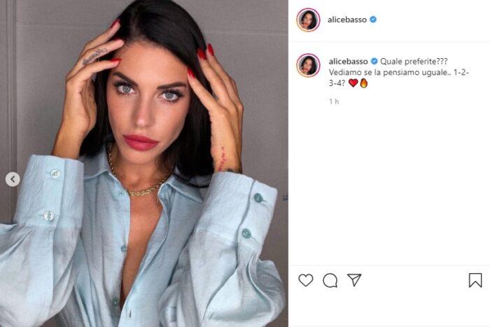 Alice post Instagram