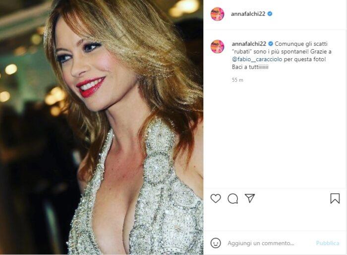 Anna Falchi post Instagram