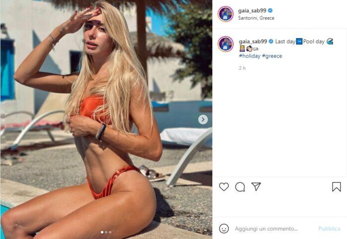 Gaia Sabbatini post Instagram