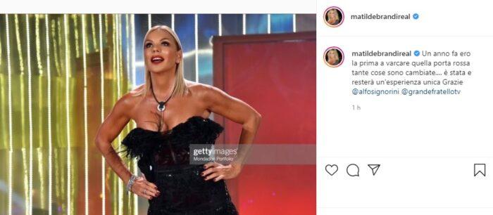 Matilde Brandi post Instagram