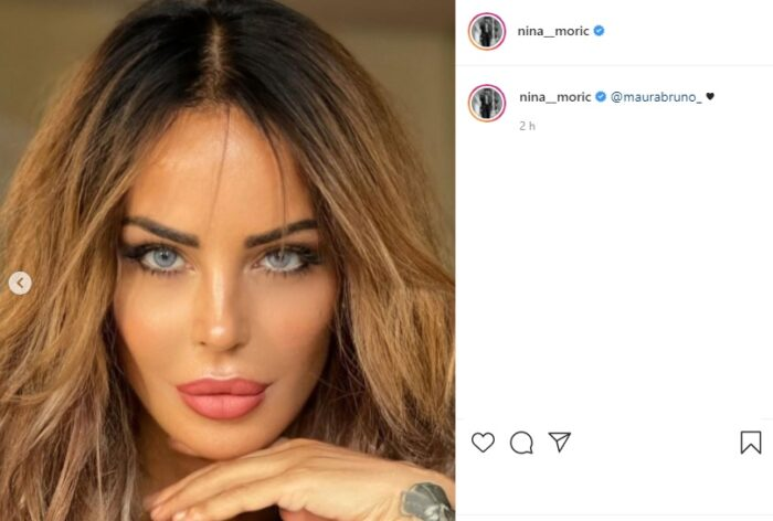 Nina Moric post Instagram