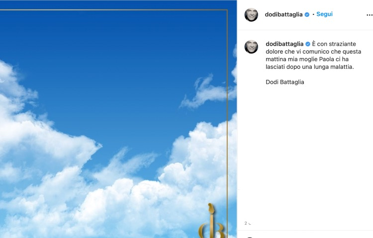 post Instagram Dodi Battaglia