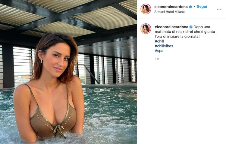 Post Instagram Eleonora Incardona